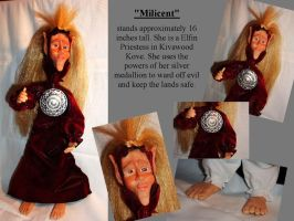 """Milicent""-Wooden Spoon Doll by BluBeagle"