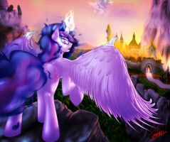 Nightmare Sparkle by ELZZombie