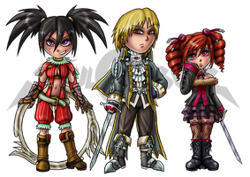 Soul Calibur IV: Chibis Set 3 by Lukael-Art