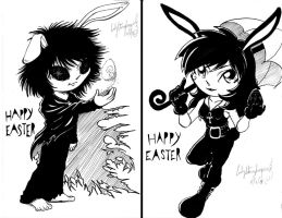 CHIBI BUNNY DREAM AND DEATH by lady-storykeeper