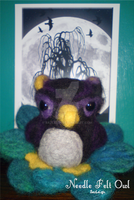 Needle Felt Owl by SazLeigh