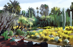 Huntington Library Plein Air painting by Peachlab