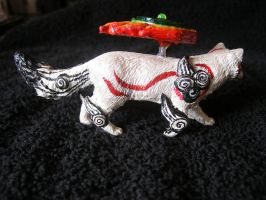 ---SOLD--- Customized Okami Amaterasu figure by stephanie1600