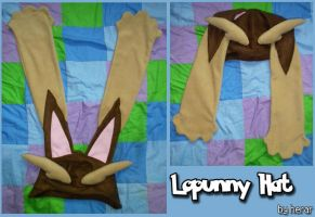 Lopunny Hat by SmileAndLead