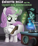Sweetie Belle Quest for Knowledge Titlecard by CheshireTwilight