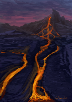 Piping Hot landscape sketch by undeadcrabstick