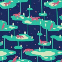 Foxy Island Pattern by electrifried