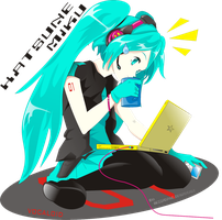 _Hatsune miku_coffee break_ by RezzaVANdaviD