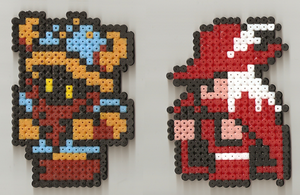 Viking and Red Mage Hama by JiFish