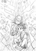Lan and MegaMan again by Autumn-Sacura