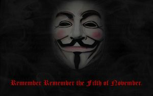 Guy Fawkes Mask Wallpaper by TheMajesticGoat
