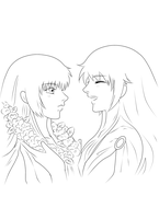 [Line Art] Road Untraveled - Saint Seiya Fic cover by etershine