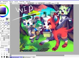 WIP: Monster picnic by Pand-ASS