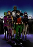 The fabulous teen titans by C-sar