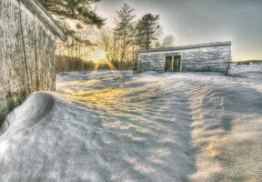 Winter Sunset at Home by IraMustyPhotography
