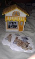 Pet Shop Coaster Set by CrushedRoses11