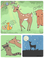 What would you do all day if you were a deer? by candyheartsyndrome