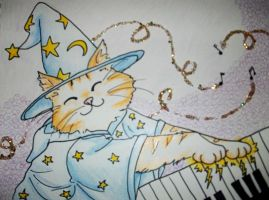 Keyboard Cat Wizard by lainabug