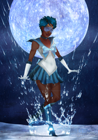 Black Sailor Mercury by IsaiahStephens