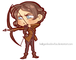 Commission: Hunger Chibi Games #Katniss by HeiligerShadowfax