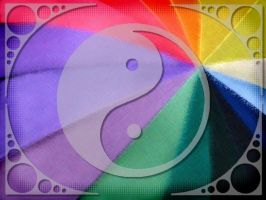 Rainbo YinYang Wall by Runewitch