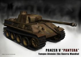 Panzer Tank 'Panther' ausf-G by Fenner