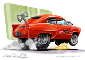 Henry J Drag Racer by GaryCampesi