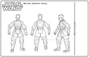 Star Wars: Retro Darth Maul input by indy1725