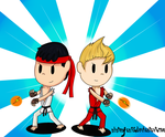 Ness and Lucas as Ryu and Ken by nintenfan96
