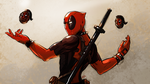 Let's Sketch Deadpool by KalaSketch