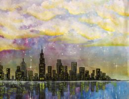 City at Dawn by Kyla-Nichole