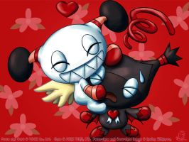 funnylove 'heart' chao style by tailschao