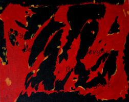 Abstract Red and Black by BevyArt