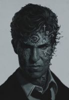 True Detective art by shwedoff