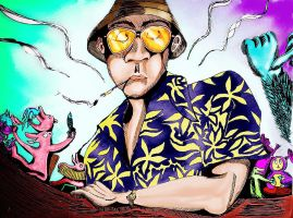 Hunter Thompson aka Raoul Duke by Sass-Haunted
