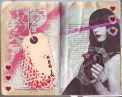 First page of altered book by abigay