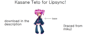 Kasane Teto for Lipsync by FB-C