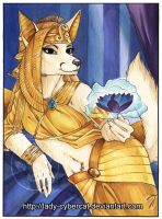 Watercolor Egyptian Fox by Cybercat and Ralloonx by lady-cybercat