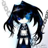 Black Rock Shooter Chibi by rainscarce