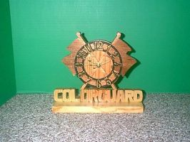 Colorguard Clock by Sawdust013