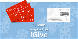 Holiday Gift Card Icons by SeanFletcher