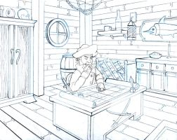 Pirate Room Drawing 2 by Jermmgirl