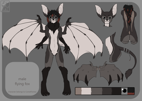 are flying fox carnivore [commission] by DesmodiaDesigns