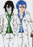 Ulquiorra and Grimmjow by DevilishMirajane