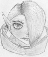 Lord Ghirahim sketch by VexerRVixen