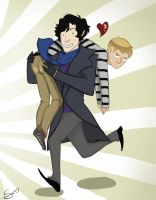 SHERLOCK YOU BUTT. by anguselvisbeef