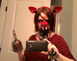 Basically done FNAF Foxy costume with moving jaw by thetriforcebearer