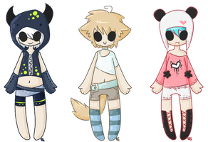 Adoptable batch 1 by CaptainFruitloops