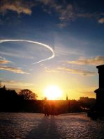 Edinburgh Sunset 2 by schizochromatic