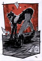 Catwoman - Rockabilly Universe by DenisM79